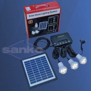 Zestaw solarny LED (Panel + regulator + LED 3 x 1W)