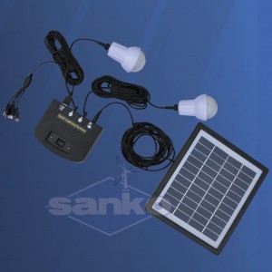 Zestaw solarny LED (Panel + regulator + LED 2 x 1W)