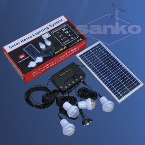 Zestaw solarny LED (Panel + regulator + LED 4 x 2W)